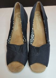Tom's Classic Espadrille Wedge Sandals Sz 8